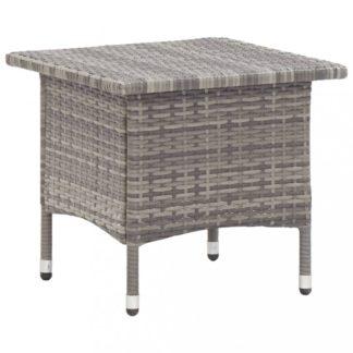 Zahradní čajový stolek polyratan Dekorhome Šedá
