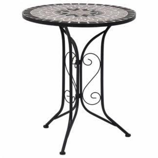 Mozaikový bistro stolek keramika Dekorhome Šedá