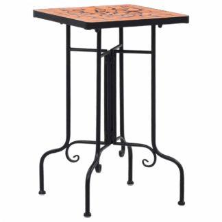 Mozaikový odkládací stolek keramika Dekorhome Cihlová