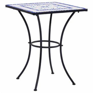 Mozaikový bistro stolek keramika Dekorhome Modrá