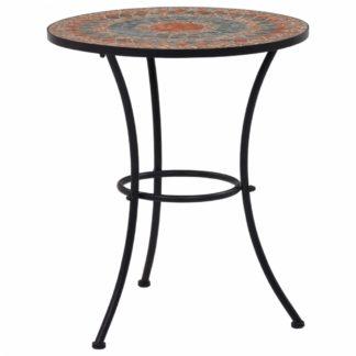 Mozaikový bistro stolek keramika Dekorhome Oranžová
