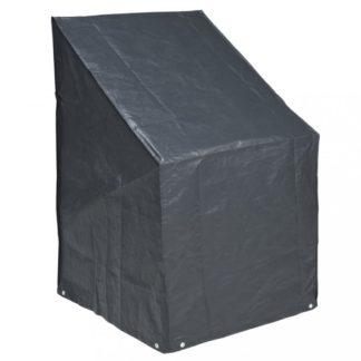 Plachta na stohovatelné židle 68 x 68 x 110 cm PE šedá Dekorhome