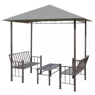 Zahradní altán se stolem a lavicemi 2,5x1,5 m Dekorhome Antracit