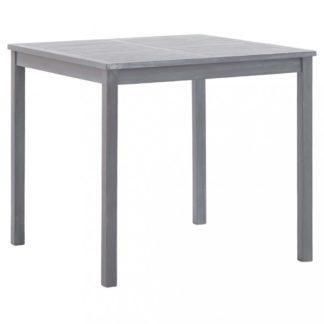 Zahradní stůl 80x80 cm z akáciového dřeva Dekorhome Šedá