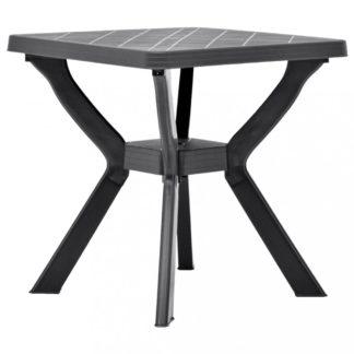 Zahradní bistro stolek plast Dekorhome Antracit