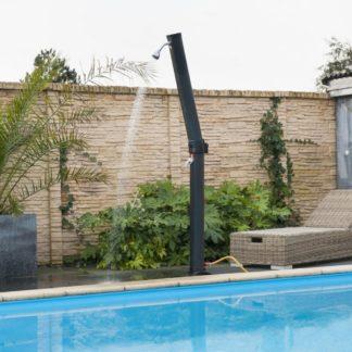 Zahradní sprcha SOLARIS PLUS černá Dekorhome