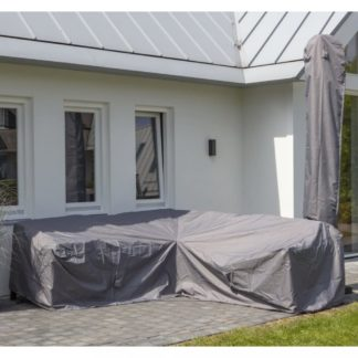 Plachta na zahradní sedací soupravu 235 x 235 x 70 cm šedá Dekorhome