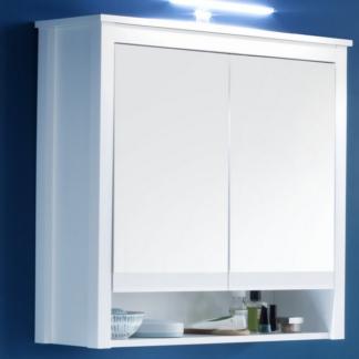 Koupelnová skříňka se zrcadlem Ole, bílá, šířka 81 cm