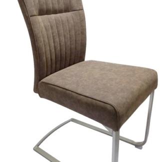 Jídelní židle Sonata, hnědá vintage ekokůže