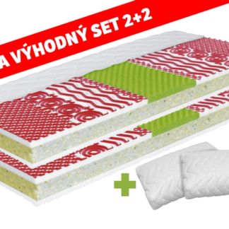 Set matrací a polštářů MEDIXO VELVET 90x200 + VISCO AIR MAX