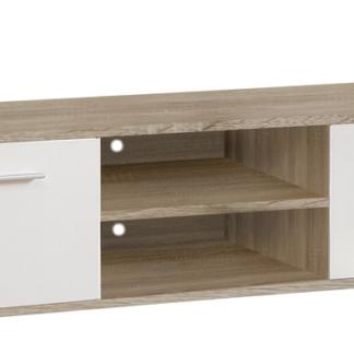 TV skříňka Quadro T13, dub sonoma/bílá