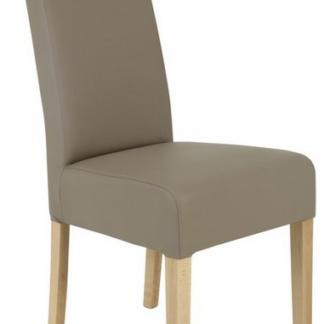 Jídelní židle Pauline, béžová ekokůže