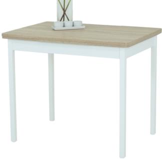 Jídelní stůl Kiel I 90x65 cm, bílý/dub sonoma