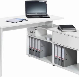 Rohový psací stůl Typ 4019, celobílý