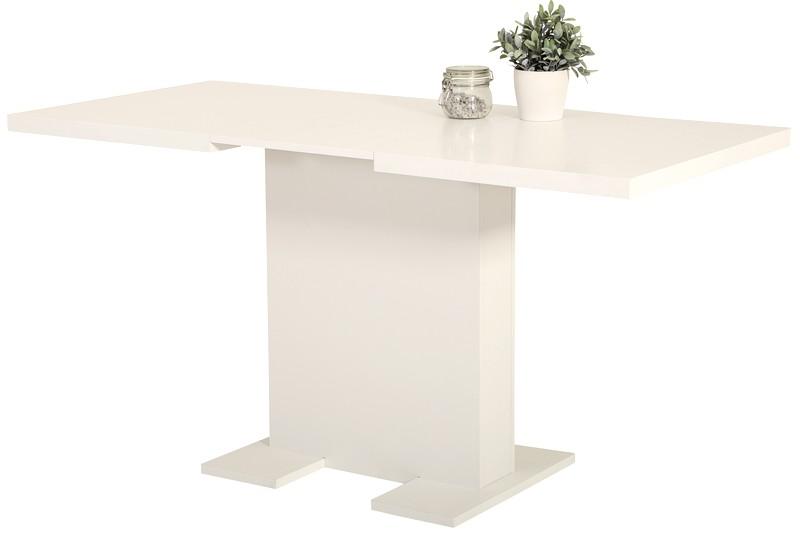 Jídelní stůl Lisa 110x70 cm, bílý, rozkládací