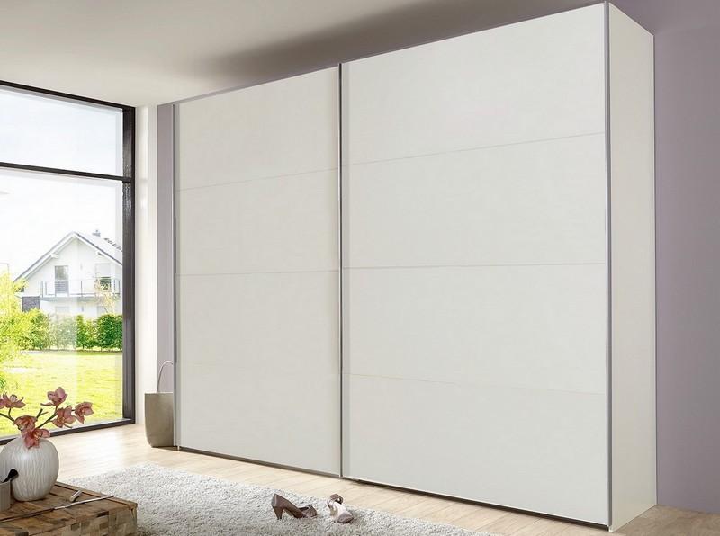 Šatní skříň Bert, 225 cm, bílá