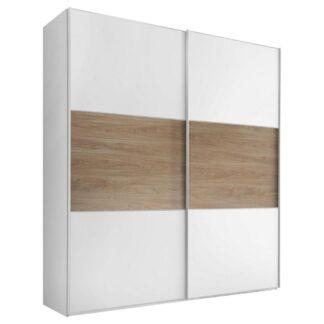 Möbelix Skříň S Posuvnými Dveřmi Includo 167 Cm Bílá/puccini