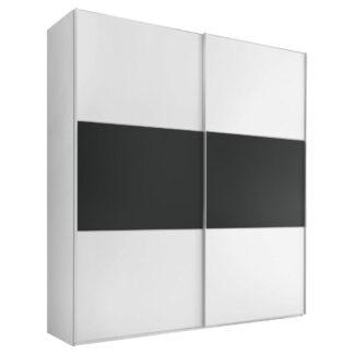 Möbelix Skříň S Posuvnými Dveřmi Includo 200 Cm Bílá/vulkan