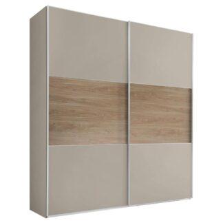 Möbelix Skříň S Posuvnými Dveřmi Includo 200 Cm Sand/puccini