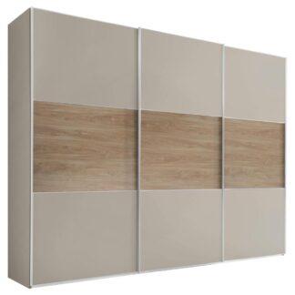 Möbelix Skříň S Posuvnými Dveřmi Includo 280 Cm Sand/puccini