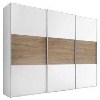 Möbelix Skříň S Posuvnými Dveřmi Includo 336 Cm Bílá/puccini
