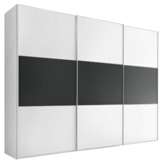 Möbelix Skříň S Posuvnými Dveřmi Includo 336 Cm Bílá/vulkan