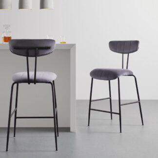 Möbelix Barová Židle Tylor Tm.šědá