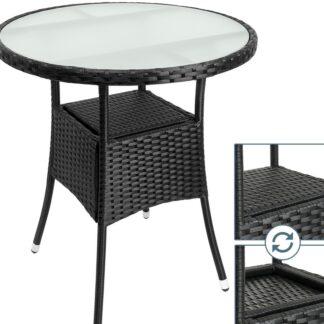 Ratanový stolek D5691 černá Dekorhome