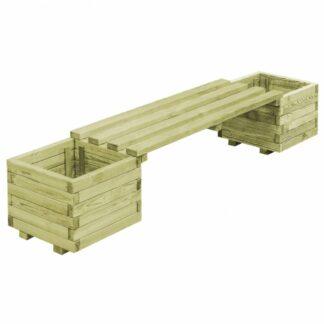 Zahradní lavice s truhlíkem borové dřevo Dekorhome