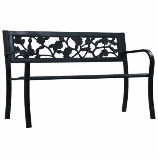 Zahradní lavice 125 cm černá Dekorhome