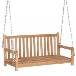Houpací lavice 120 cm teakové dřevo Dekorhome