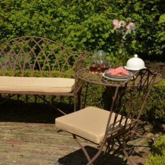 Zahradní lavice 130 cm hnědá Dekorhome