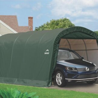 Plachtová garáž 3,7 x 6,1 m zelená Dekorhome