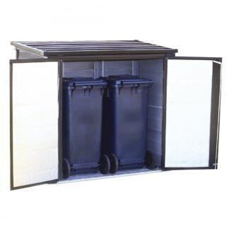Zahradní úložný box 1 m3 kovový Dekorhome