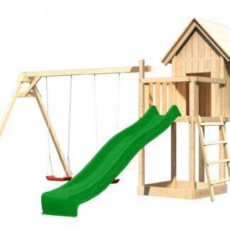 Dětské hřiště se skluzavkou Dekorhome Zelená
