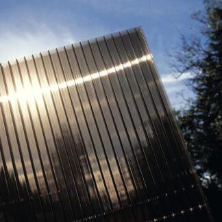 Hliníková pergola 4,34 x 3 m antracit / polykarbonát Dekorhome Kouřově hnědá (bronz)