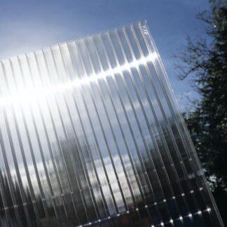 Hliníková pergola 4,95 x 3 m bílá / polykarbonát Dekorhome Průhledná (čirá)