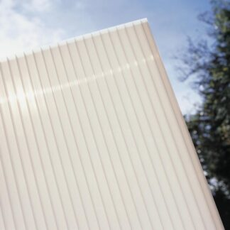 Hliníková pergola 4,95 x 3 m bílá / polykarbonát Dekorhome Mléčně bílá (opál)