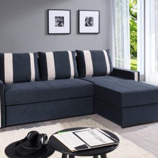 Rohová sedačka DOMINO IBIZA, šedo-černá/béžová