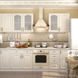 Kuchyně VERONA 300/240 cm, bílá/zlatý jasan