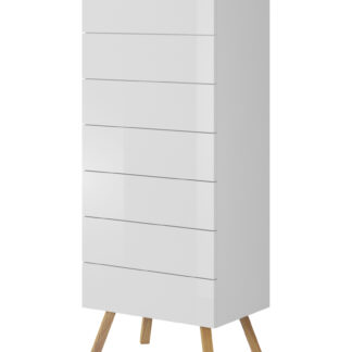 LIMA komoda 50 cm, bílá/dub wotan