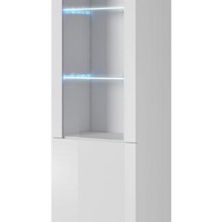 LIMA vitrína 50 cm, bílá/dub wotan