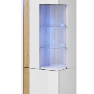 MARCO vitrína stojící 50/160 levá, bílá/dub