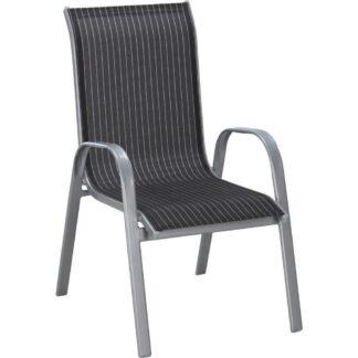 XXXLutz Stohovatelná Židle Černá Barvy Stříbra Bílá Xora