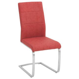 XXXLutz Houpací Židle Červená Barvy Nerez Oceli Novel