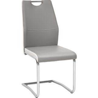 XXXLutz Pohupovací Židle Šedá Bílá Barvy Chromu Carryhome