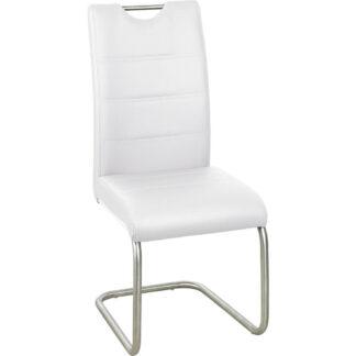 XXXLutz Houpací Židle Bílá Barvy Nerez Oceli Xora