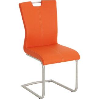 XXXLutz Houpací Židle Oranžová Barvy Nerez Oceli Dieter Knoll