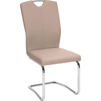XXXLutz Pohupovací Židle Hnědá Barvy Chromu Hom`in