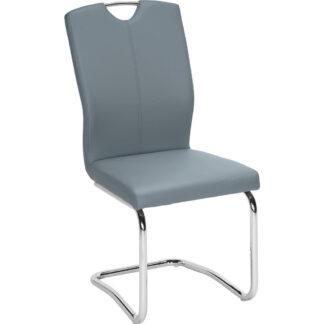 XXXLutz Pohupovací Židle Modrá Barvy Chromu Hom`in